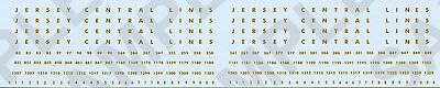 4-02 Jersey Central Lines(CNJ) N Scale Passenger Car Decals, Road Name w/ Car #s