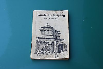 1946 China Guide to Peiping Original Book 146 Pages Map Adverts Photographs