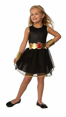 rubies marvel comics black widow children girls halloween costume 510049