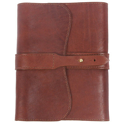 Leather Golf Journal Notebook Brown Refillable Unlined Pages  USA Made No. 9