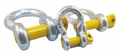 Galvanised Tested Screw Pin Alloy Bow Shackles Lifting Recovery 1Ton - 4.75Tons