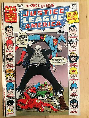 DC Comics Justice League Of America #92 September 1971 excellent condition