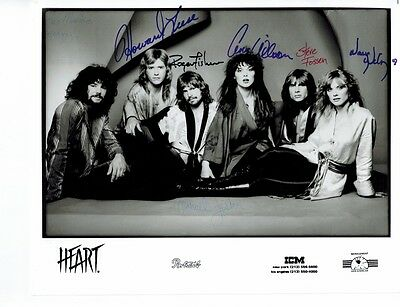 Vintage Autographed HEART Band Publicity Photo from 1979 – Ann and Nancy Wilson
