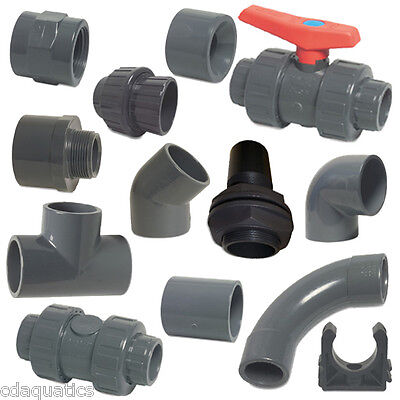 "PVC Imperial Solvent Weld Pressure Pipe Fittings 3/4"" To 4"" For Ponds"