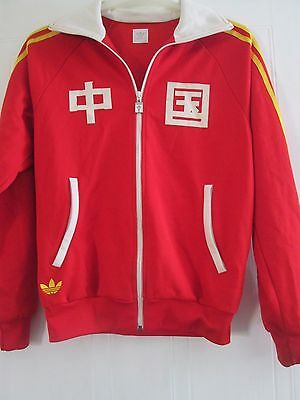 2008 Adidas Originals Olympic Team China Track Jacket Size Medium Small /41560