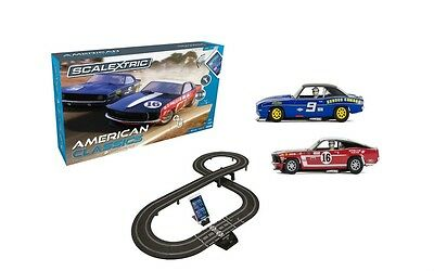 Scalextric American Classics Chevrolet & Ford 1:32 Slot Car Racing Track Set