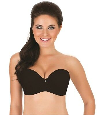 e7ddb76d90 Parfait Jeanie 4815 Black Moulded UW Strapless Contour Bra NWT large sizes