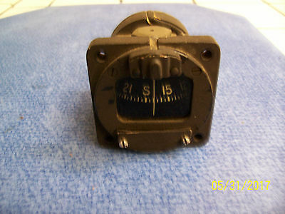 """Vintage Military """"AIRPATH INDUSTRIES"""" Aircraft Magnetic Standby Compass"""
