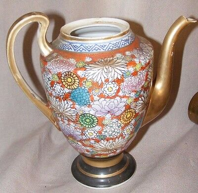Vintage Chinese Or Japanese Mille Fleur Millefleur Teapot Or Coffee Pot