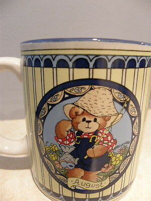 Lucy & Me Bear - Mug August - Used As Decoration Only Excellent Condtion
