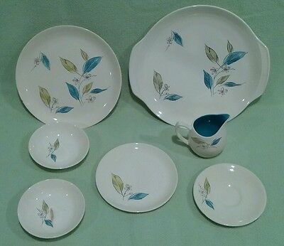 7 pc lot Salem Biscayne China, less than perfect pieces for crafts or casual use
