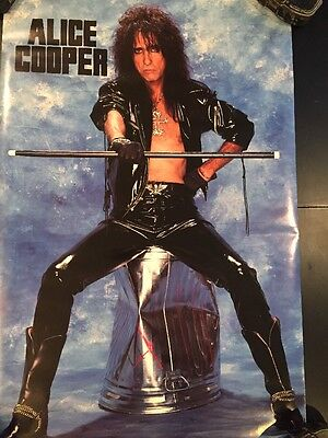 "1990 VINTAGE ALICE COOPER PERSONALITY PROMO POSTER 22""x 34"""