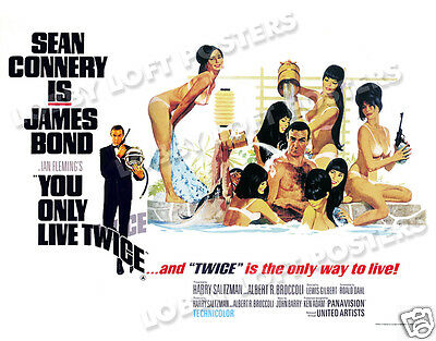 You Only Live Twice Lobby Card Poster Bq-C 1967 James Bond 007 Sean Connery