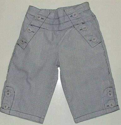 NEXT Girls Cute Pale Blue Sailor Style Cotton Trousers Size 2-3 Years