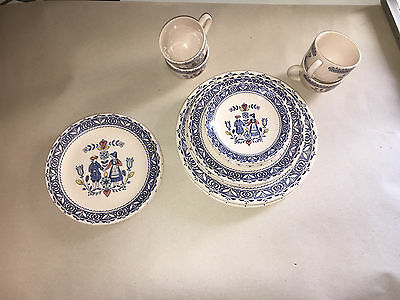 Hearts & Flowers Staffordshire Old Granite Ironstone Dishes by Johnson Brothers