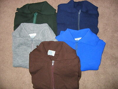 AWESOME School Zippers jumper/cardigan/cardy Blue/Navy/Bottle Green/Brown/Grey