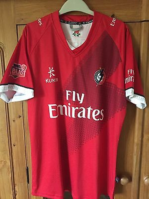 Lancashire County Cricket Club Match Worn T20 Winners Blast Shirt Player Issue