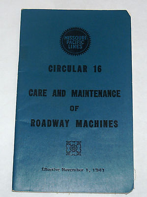 Vintage Missouri Pacific Lines Railroad Employee Rule Book Circular 16 Machines