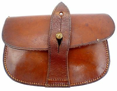 Original Wwii Major Je Catling's Sam Browne Leather Ammo Pouch