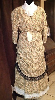 Ladies Flowery Pattern Cotton Suit Western or Period Re-enactment