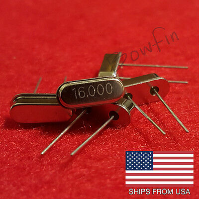 (5 Pack) 16 MHZ Crystal Oscillator HC-49S - Quick & Free Shipping from USA!!!
