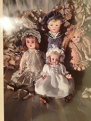 COLLECTION  PATTERNS 4 ANTIQUE FRENCH GERMAN ALL BISQUE MIGNONETTE 13-22 cm DOLL