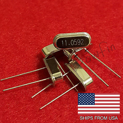 (5 Pack) 11.0592 MHZ Crystal Oscillator HC-49S - Quick & Free Shipping from USA!