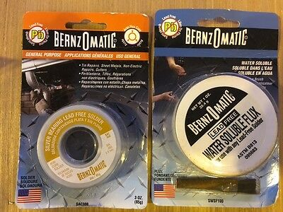 Bernzomatic Led Free Solder Silver Bearing And Water Soluble Flux