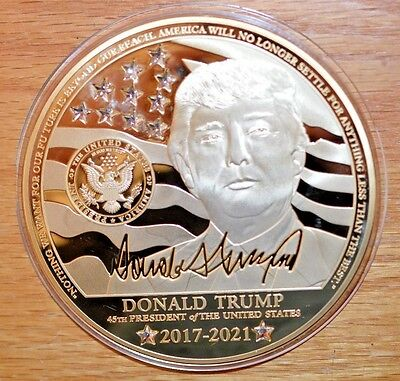 2017 Unc Proof Donald Trump Presidential Medallion- Colossal - 4 inch