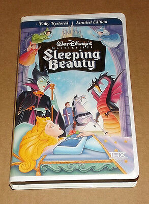 Sleeping Beauty (VHS, 1997, Limited Edition) Walt Disney's Masterpiece