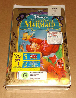 The Little Mermaid (VHS, 1998, Special Edition) Disney NEW & FACTORY SEALED
