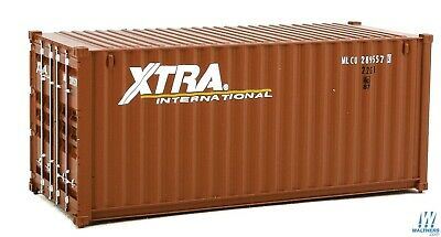 HO XTRA 20' Corrugated Container - Walthers SceneMaster #949-8067 vmf121
