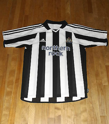 vintage 2003 NEWCASTLE UNITED jersey NORTHERN ROCK soccer football SMALL