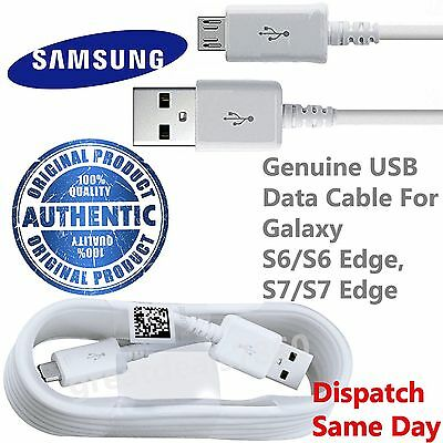 100%Genuine Samsung Galaxy S6, Edge S7 sony htc Fast Charger USB Data Cable Lead