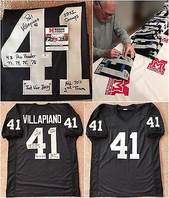 Phil Villapiano Autographed Signed Black Oakland Raiders Jersey XL COA