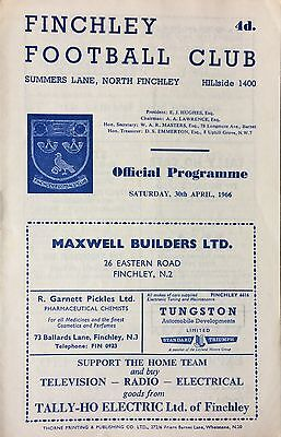 1966 - Finchley v Carshalton - Athenian League