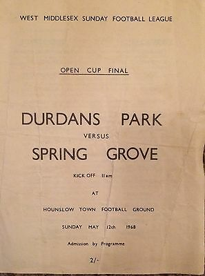 1968 - Durdans Park v Spring Grove - West Middlesex League Open Cup Final