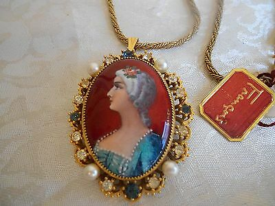 FRANCOIS Signed Vintage Handpainted Limoges GAMET Signed Cameo  w Original Tag!