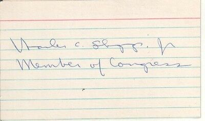 Charles C. Diggs Autographed Index Card Former Michigan African-American Politic