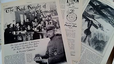 July 9, 1927 Magazine Page #614- Baron Von Richthofen, The Red Knight Of Germany