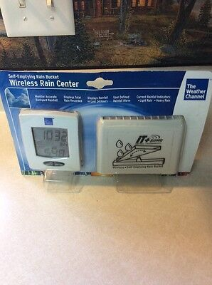 New Weather Channel Wireless Rain Center #9005 330 ft. Range User Defined Alarms