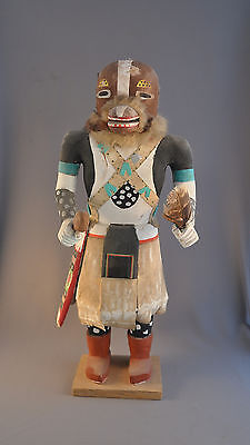 "Large Old Vintage Hopi Indian Kachina - 21"" Tall - Wolf? Squirrel?"
