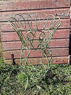 """Vintage Wrought Iron Plant Stand large basket hairpin legs chippy shabby 31"""""""