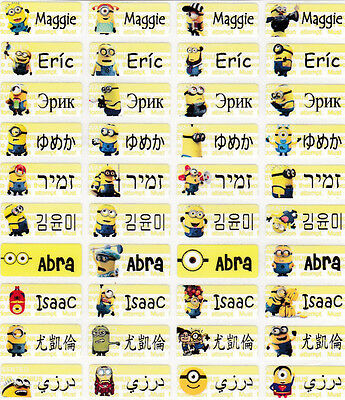 120 MINIONS Personalized Name Labels-SCHOOL,DAYCARE,NURSERY(Buy 5 get 1 FREE)