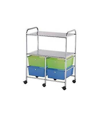 4 Drawer Blue Hills Studio  Storage Cart with 2 Shelves [ID 107649]