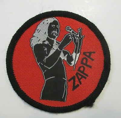 "Vintage Frank Zappa Red White & Black 3"" Unused Fabric Patch"