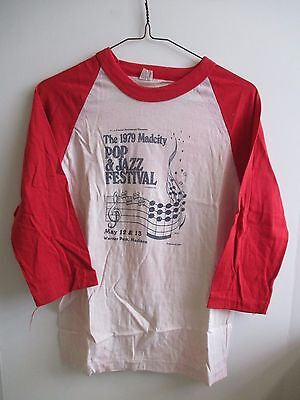1979 Madcity Pop & Jazz Festival Warner Park Madison Wi Mens Small Tshirt Red