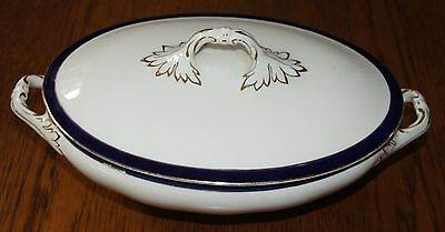 Vintage Covered China Dish - Bleu de Roi by Alfred Meakin, England