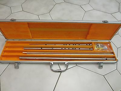 Stainless Steel Chinese Flute (Dizi) Set, w/a Aluminum Case, kali sticks- solid