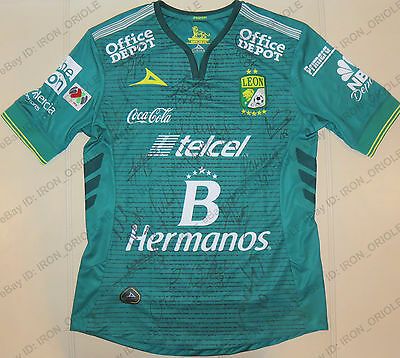2016 LEON FC Fiera team signed PIRMA soccer jersey - 100% Authentic 16 autos